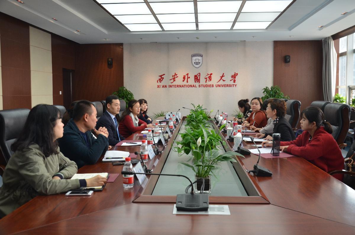 陕西中医药大学国际处赴西安外国语大学调研