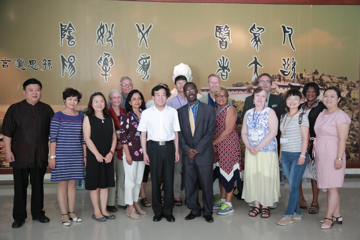 知行中国-中美学术影响力计划代表团访问我校