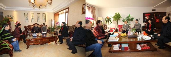 省中医药管理局马光辉局长看望我校国医大师张学文、郭诚杰