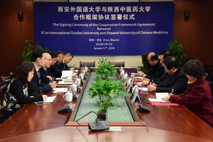 我校与西安外国语大学签署校际合作协议
